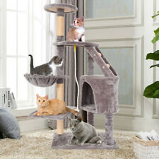 Cat Tree Condo Climbing Tower Scratching Kitty Multi Level House Cat Tree Gray