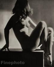 1938 WALTER BIRD Art Deco FEMALE NUDE Woman England Large Original Photo Gravure