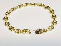"""14k Solid Gold Men's Mariner Link Bracelet 9 mm 35 grams 9"""""""