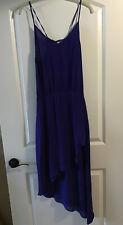 MASON by MICHELLE MASON Silk Assymetric Dress Royal Blue Sz 4 Pre-Owned