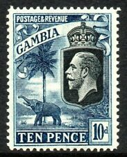 GAMBIA Stamps 1922  SG 133  10d Blue Wmk MSCA  Mounted Mint