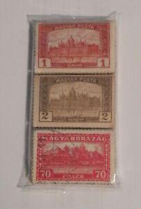 3 Bundle / Pacchetti con 100 francobolli ciascuno - 1919/1927 - UNGHERIA [UNG02]