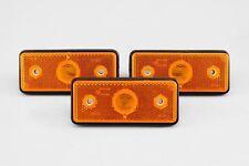 Mercedes Sprinter 95-06 Orange Sidemarkers Set x3 Lens Side Marker 11cm x 4.5cm