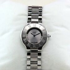 Authentic Cartier Must de Cartier 21 Stainless Steel Watch 1330