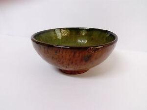 Vintage Antique Bowl Of Ceramic Glazed Spanish 14cm Ø IN Mouth