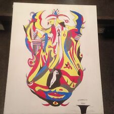 2001 Artist Signed Miklos Emhecht Painting Fantasy #1 Acrylic on Canvas