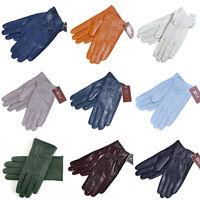New Driving dance Women Winter Warm Genuine Lambskin Leather Soft Lining Gloves