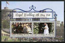 Aitutaki Cook Islands 2018 MNH Prince Harry & Meghan Royal Wedding 2v M/S Stamps