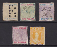 Natal. Revenue/Fiscal stamps. 1d to £10.