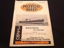 VINTAGE 1945 THE MOTOR SHIP DOXFORD TANKER ALEXIA CARGO LINERS