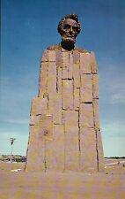 Lincoln Monument Sherman Hill, Cheyenne to Laramie Wyoming WY President Postcard