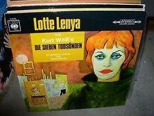 LOTTE LENYA singt die sieben todsunden ( world music ) - TOP COPY -