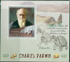 2016 CHARLES DARWIN SOUVENIR SHEET GIANT TURTLES REPTILES SKULL 400381