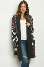 New Northern Angel Boho Colorful Long Sleeve Western Sweater Duster Cardigan S-L