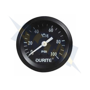 Genuine Durite 0-533-16 Mechanical Oil Pressure Gauge with 12' Capillary - 52mm