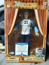 Justin Timberlake Autographed Figure. Brckett Coa.