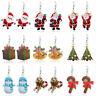 Impression acrylique Sapin de Noël Père Noël Boucles d'oreilles pendantes