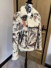 Zara Patterned Biker Style Jacket Size S 10/12