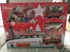 Disney Mickey Mouse Holiday Express 36 pc Train Set Goofy Minnie Pluto Collector