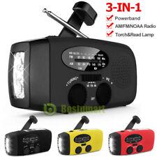 3 in 1 Emergency Solar Hand Crank AM/FM/NOAA/WB Radio LED Torch USB Charger SOS