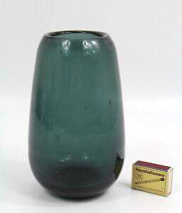 Wagenfeld alte Glas Vase Turmalin 50er Jahre WMF Design