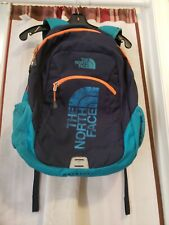 Pre-owned The North Face Haystack Backpack Blue/Feather Orange