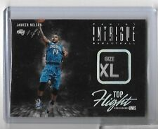 2013-14 INTRIGUE JAMEER NELSON NBA LAUNDRY TAG PATCH AUTO #D 1/1 TOP FLIGHT