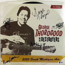 George Thorogood & The Destroyers (5) Signed Album Cover W/ Vinyl BAS #A84994