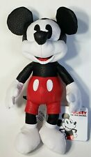 Disney Mickey Mouse Simulated Leather Plush Toy 10 Inch NWT!