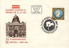 Ersttagsbrief Österreich MiNr. 1685, 200 Jahre Toleranzedikt