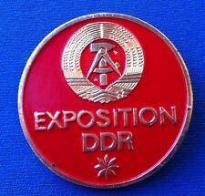 Exposition DDR East Germany Expo GDR German, old vintage badge, VERY RARRE !