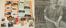 Post WW2 Canadian Forces Decoration CD + UNEF Medal w/ 94 photos Album Egypt !