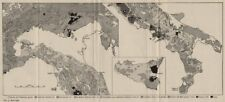 ITALIA. i tipi di rock. WW2 ROYAL NAVY Intelligence mappa 1944 vecchio vintage grafico