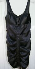 Black Dress Size Small Satin Sleeveless Belle D Built in Bra Party Dance NWT