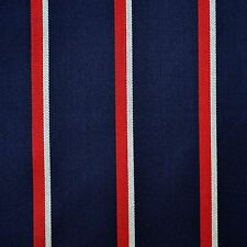 Navy, Red & White Wool & Cotton Boating Blazer Stripe - 2.50 Mtrs