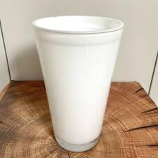 INNA Glas Konische Vase SALLY, weiß, 22cm, Ø13cm - Blumenvase / Glasvase