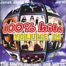 100% Hits Volume 24-CD Chumbawamba-T-Shirt-Boyz II Men-Radiohead-Hanson-Dario G