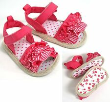 BABY GIRLS PINK FRILLY RUFFLES SANDALS 6-9 MONTHS