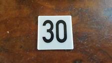 Nummer Zahl Nummerierung Hausnummer Acylglas weiß