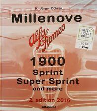 Millenove Alfa Romeo 1900 Book Zagato Touring Vignale Bertone Ghia Sz