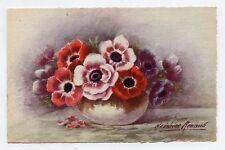 Madeleine RENAUD . Pot de fleurs .  Flowers .