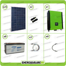 Kit solare fotovoltaico 6.7KW Inverter onda pura Infinity 5000W 48V regolatore M