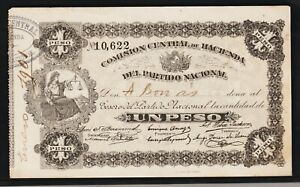 COMISION CENTRAL DE HACIENDA,PARTIDO NACIONAL, 1 PESO 1901,NICE CONDITION