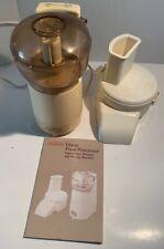 Vintage Sunbeam Oskar Food Processor Model 14081 Works!!!