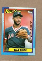 2017 topps rediscover buyback card 1990 155 ellis burks red sox bronze
