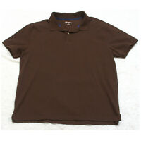 St. John's Bay Brown Polo Shirt Short Sleeve XL Cotton Extra Large Men's Man's