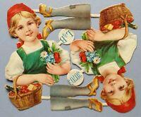 Oblaten Glanzbild Sammelbild Poesiealbum Scrap Märchen L&B 30705 Rotkäppchen (12
