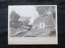 La ferrovia a cremagliera da Monaco a la Turbie: Bordina Incisione del 1894