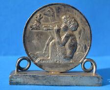 Médaille plaque socle Art Déco Jeune FAUNE joueur d'aulos René THENOT 1930'