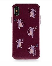 COACH IPhone X Phone Case Dark Berry Purple Dancing Mice Party Mouse 39327 NWT